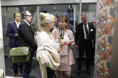 Tour for architects and interior designers at the Heimtextil
