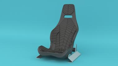 3D visualization of knitted textile on a car seat