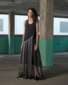 Ilaria Nistri dress made with Infinity fabrics in Bemberg™ and laminated silk.