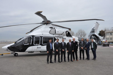 Airbus Helicopters unveils third H160 prototype with striking carbon livery