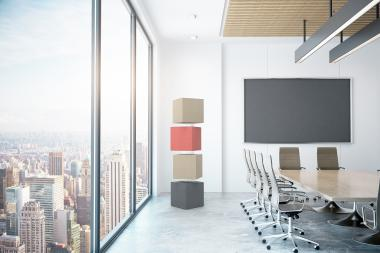 With Soundwise, drapilux has for the first time introduced flexible elements that improve the acoustics and can be integrated into the existing architecture.