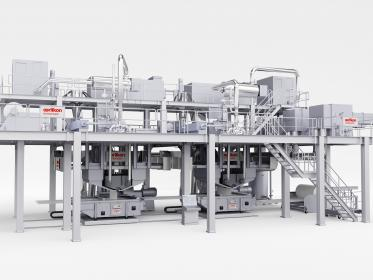 Oerlikon Nonwoven meltblown nonwovens systems fulfill the very highest quality require-ments when manufacturing high-end materials for filtration applications and medical products.