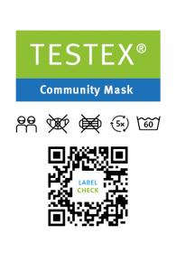 "First Swiss ""Community Mask"" with TESTEX label by Schoeller Textil AG and Forster Rohner AG"