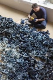 Tonello presents denim installation by Ian Berry