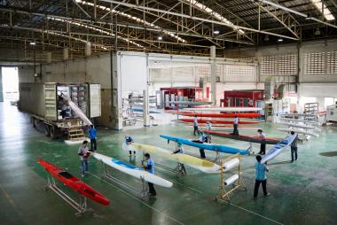 COBRA provides high-quality mass production for ARE Tahiti's new composite canoes