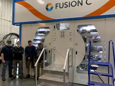 PCMC: Installation of Fusion C printing press at packaging supplier Yellowstone Plastics